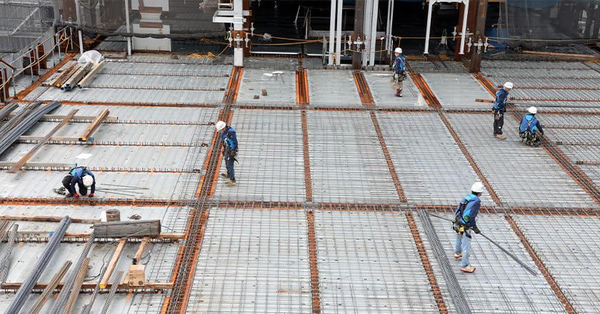 鉄筋工事に特化した職人集団